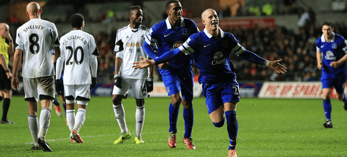 Ross Barkley scores the winner for Everton vs Swansea