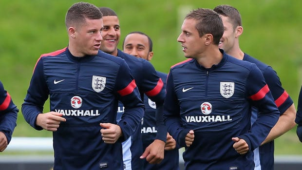 Ross Barkley and Phil Jagielka