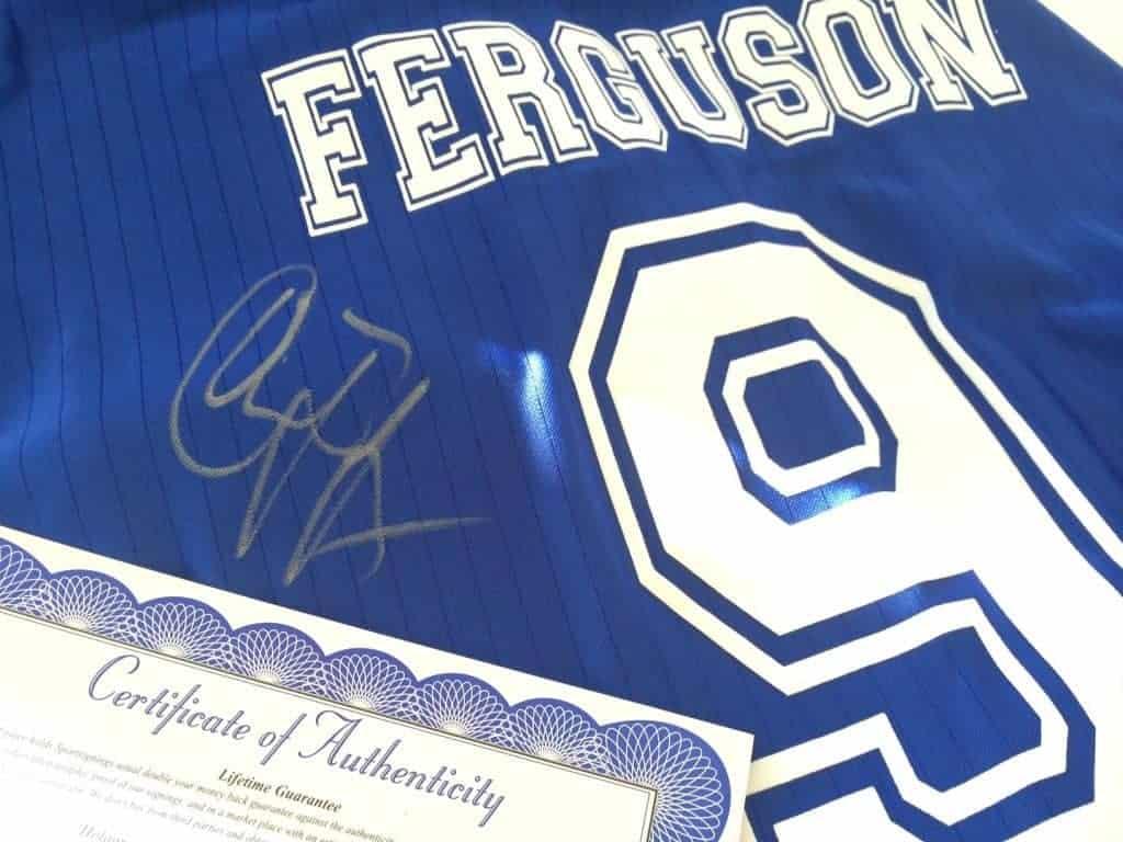 Ferguson Signed Shirt