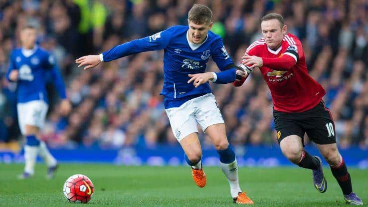 John Stones and Wayne Rooney